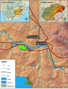 Strategic location of the Maluti-A-Phofung SEZ