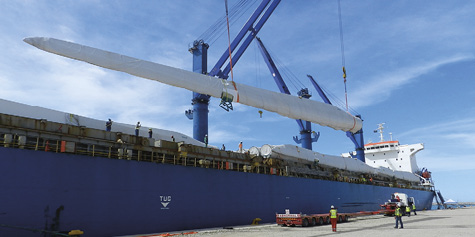 Turbines being delivered for the Cookhouse Wind Farm Development