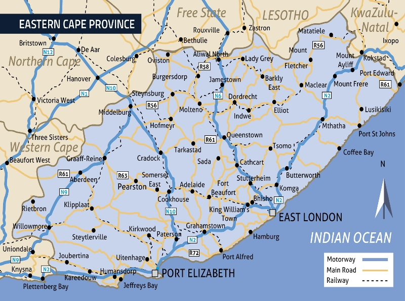 Map Eastern Cape South Africa.The Economy Of The Eastern Cape Province In 2019 Global